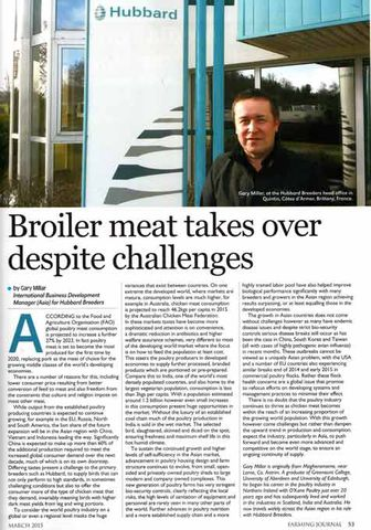 Broiler meat takes over despite challenges