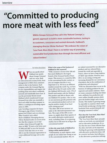 Photo Committed to producing More Meat with Less Feed